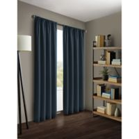 Kenneth Cole Reaction Home Gotham 84-Inch Rod Pocket/Back Tab Window Curtain Panel in Midnight