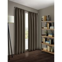 Kenneth Cole Reaction Home Gotham 63-Inch Rod Pocket/Back Tab Window Curtain Panel in Midnight