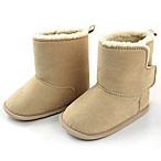Rising Star Size 3-6M Sherpa Trim Boot in Beige