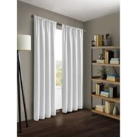 Kenneth Cole Reaction Home Gotham 63-Inch Rod Pocket/Back Tab Window Curtain Panel in White