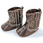 Rising Star Size 3-6M Cowboy Boot in Brown