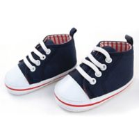 Rising Star™ Size 9-12M High-Top Sneaker in Navy/White