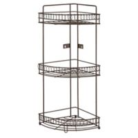 Bath Bliss 3-Tier Curls Corner Shower Rack in Rust