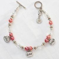 Silvertone Live, Love, Laugh 7.5-Inch Charm Bracelet
