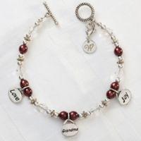 Silvertone Love, Grandma, Joy 7.5-Inch Charm Bracelet