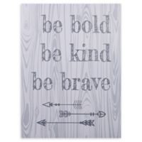 "Trend Lab® ""Be Bold, Be Kind, Be Brave"" 24-Inch x 18-Inch Canvas Wall Art"