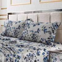 Tribeca Living Lisbon 300-Thread-Count Deep-Pocket Twin XL Sheet Set in Blue