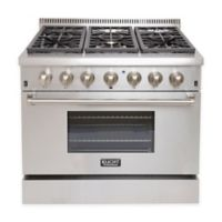 Kucht Professional 36-Inch Dual-Fuel Gas Range in Stainless Steel
