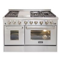 Kucht Professional 48-Inch Dual-Fuel Gas Range in Stainless Steel