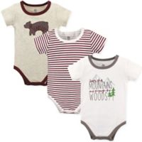 Yoga Sprout Size 12-18M 3-Pack Mountains and Woods Bodysuits