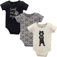Yoga Sprout Size 12-18M 3-Pack Bear Hugs Bodysuits in Beige