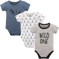 Yoga Sprout Size 12-18M 3-Pack Wild One Bodysuits in Black