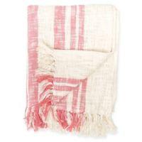 Carol & Frank Morgan Throw Blanket in Azalea