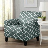 Great Bay Home Tori Armchair Slipcover in Blue