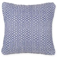 Fab Habitat Bodhi Square Throw Pillow in Blue