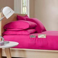 Intelligent Design Microfiber Full Sheet Set with Pocket in Pink
