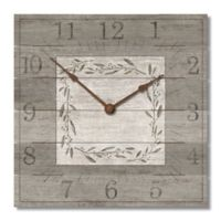 Highland Woodcrafters Pallet 12-Inch Wall Clock in Light Grey