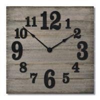 Highland Woodcrafters Pallet 12-Inch Wall Clock in Grey