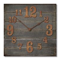 Highland Woodcrafters Pallet 12-Inch Wall Clock in Dark Grey