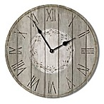 Highland Woodcrafters Pallet 23.5-Inch Wall Clock in Grey