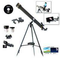 Galileo G-860BG Refractor Telescope and G-SPA Smartphone Adapter Kit in Black