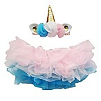 Elly & Emmy Size 0-6M 2-Piece Unicorn Headband and Tutu Set