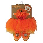 Elly & Emmy Size 0-6M 3-Piece Halloween Tutu, Headband, and Bootie Set in Orange