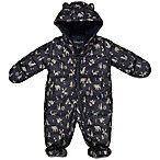 London Fog® Size 3-6M Woodland Print Pram Coverall in Navy