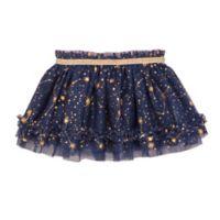 Baby Starters® Newborn Gold Stars Tutu Skirt in Navy