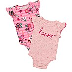 "Baby Starters® Newborn 2-Pack ""Happy"" Bodysuits in Pink"