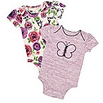 Baby Starters® Size 6M 2-Pack Butterfly Bodysuits in Grey
