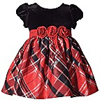 Bonnie Baby Size 0-3M Plaid Short Sleeve Dress in Red