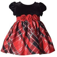 Bonnie Baby Size 3T Plaid Short Sleeve Dress in Red