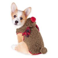 Holiday Pet Small Reindeer Costume in Brown/Red