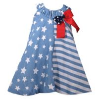 Bonnie Baby Size 3-6M Stars and Stripes Dress in Blue