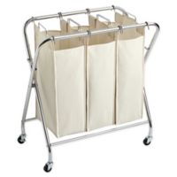 Real Simple® X Frame Triple Laundry Sorter in Chrome