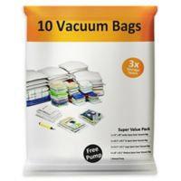 Everyday Home 11-Piece Vacuum Storage Bag Set in White