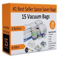 Everyday Home 16-Piece Vacuum Storage Bag Set in White