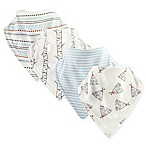 Touched by Nature 4-Pack Teepee Bandana Bibs in Beige
