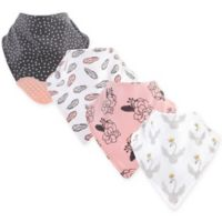 Yoga Sprout 4-Pack Spread Your Wings Bandana Bib With Teether in Grey