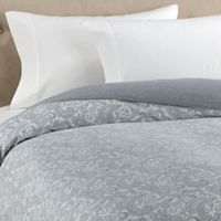 The Seasons Collection® HomeGrown™ Paisley Flannel Twin Duvet Cover in Grey