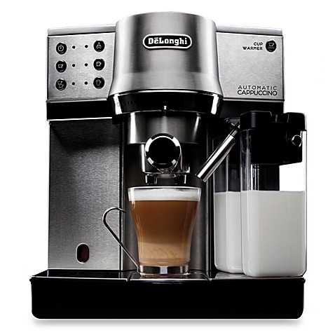 de 39 longhi ec860 stainless steel pump espresso cappuccino maker bed bath beyond. Black Bedroom Furniture Sets. Home Design Ideas