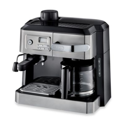 De Longhi BCO330T Combination Steam Espresso Drip Coffee Cappuccino and Latte Machine in Silver ...