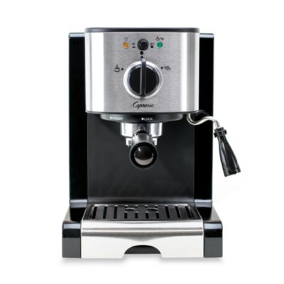 Silver Black Cappuccino Machine