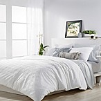 Microsculpt Ogee King Comforter Set in White