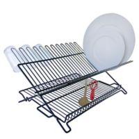 Better Housewares Folding Dish Rack in Black