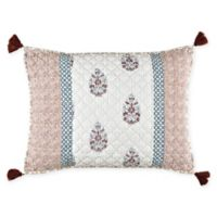 Mia Standard Pillow Sham in Pink/Blue