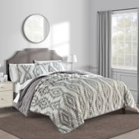 Paola Twin Quilt in Black/White