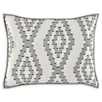 Paola Jacquard King Pillow Sham in Black/White