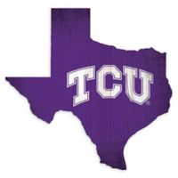 Texas Christian University Team Color Logo State Sign